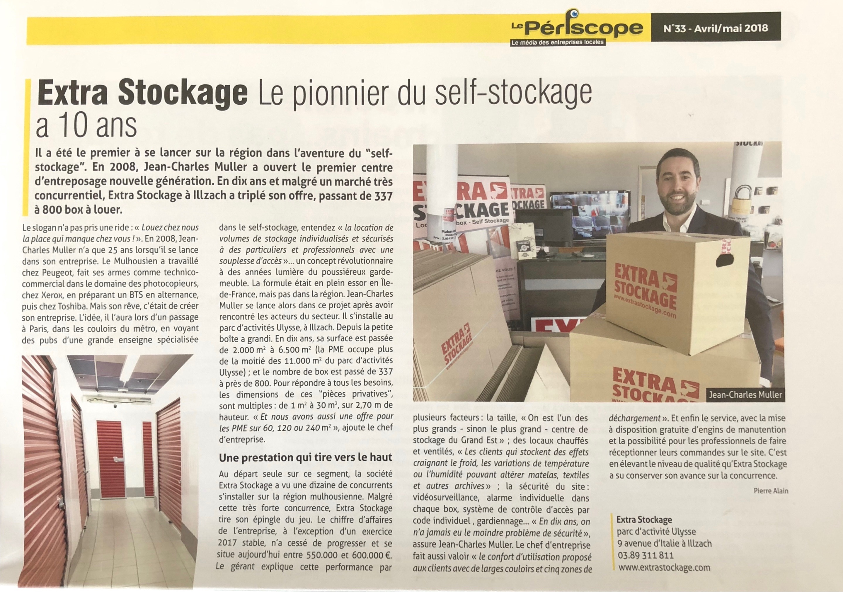 Jean-Charles Muller Extra Stockage Mulhouse