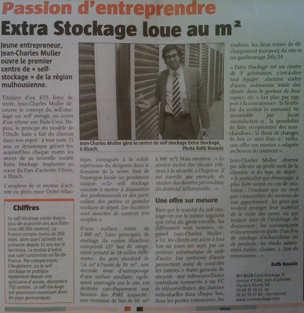 Jean-Charles Muller mulhouse self stockage