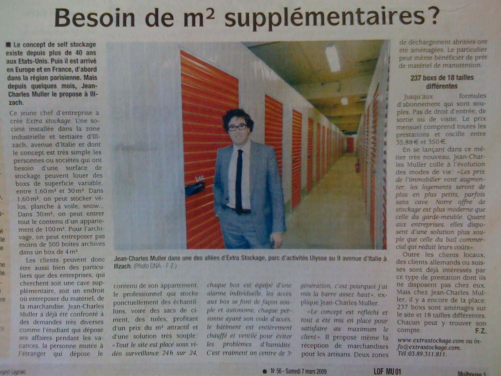 Jean-Charles Muller mulhouse article self stockage