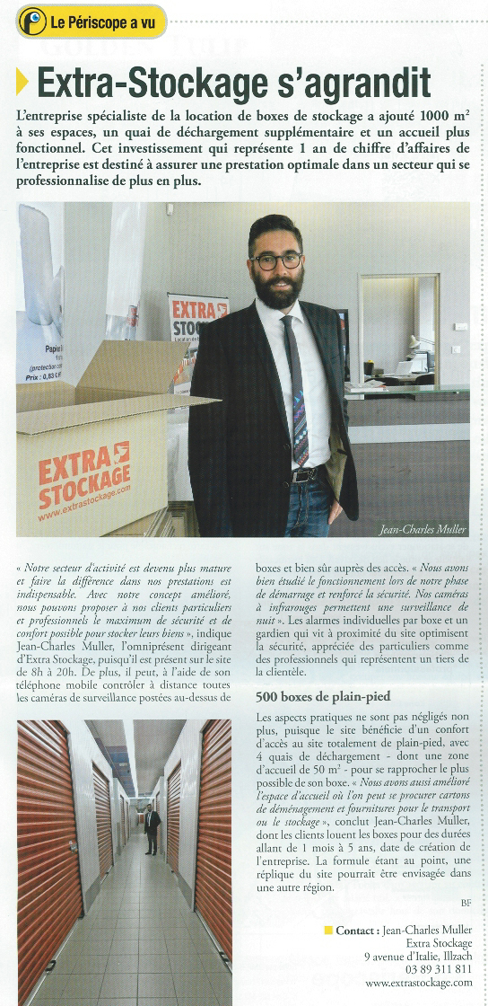 article de presse self stockage